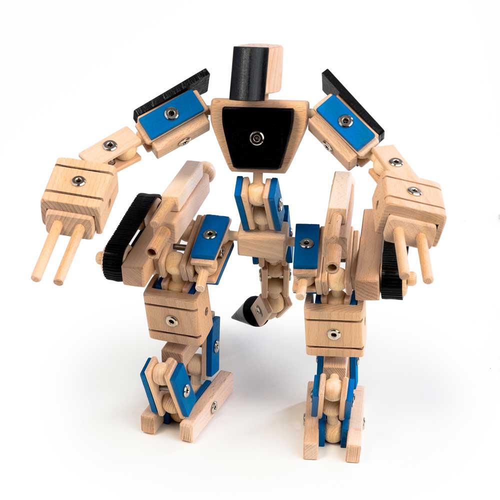Helden aus Holz Gigawood großer Transformer mit über 190 Teile machen ihn zum größten Holzspielzeug
