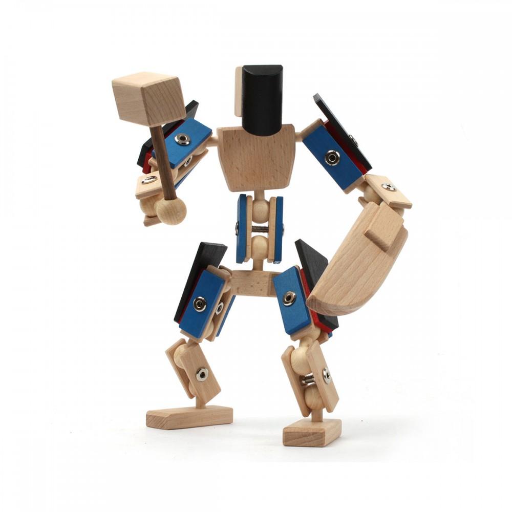 Helden aus Holz Zaphiron, Holzspielzeug wie von einem anderen Stern, nachhaltiges Baukastenkonzept aus Holz und Metall zum selber zusammenbauen.